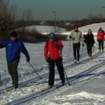 Skispor på Fornebulandet