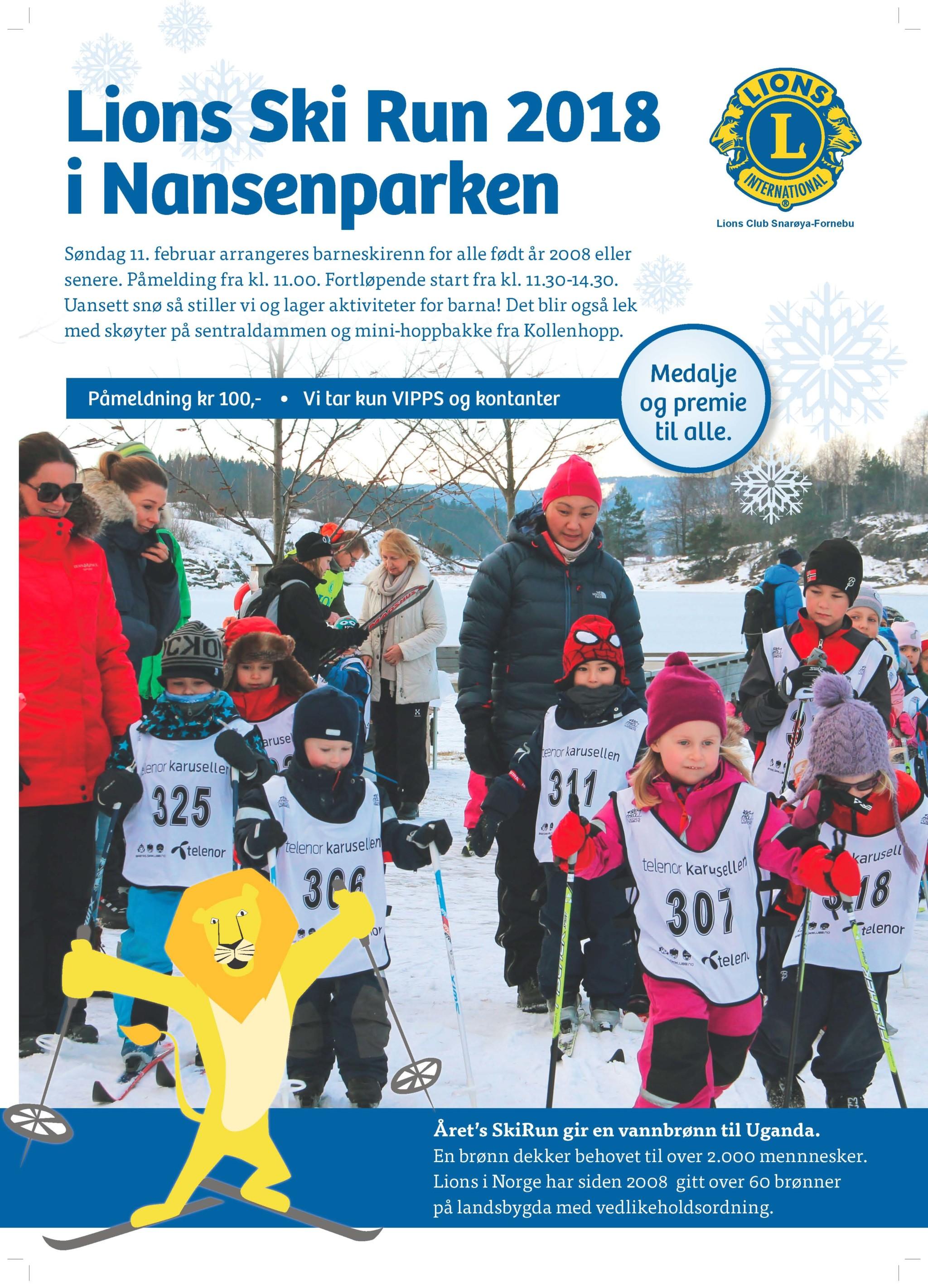 Lions Ski Run 2018