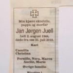 Jan Jørgen Juell til minne